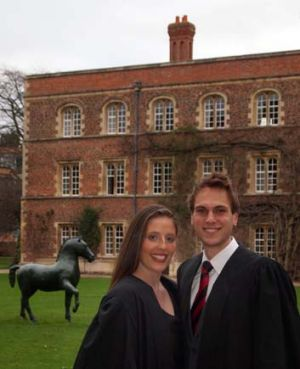 Chris and Sophie Atkinson, of Geelong, attend Jesus College, Cambridge.