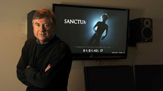 Andrew Wight, pictured in 2010 with a screen grab of his movie, <i>Sanctum</i>, died in a helicopter crash on the New ...