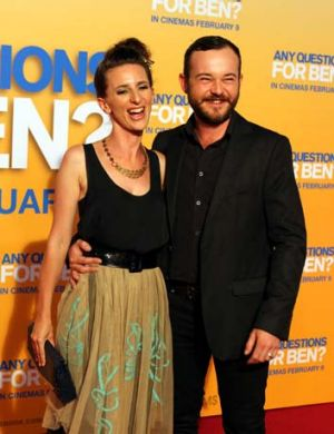 Daniel Henshall on the red carpet with cast member Felicity Ward.