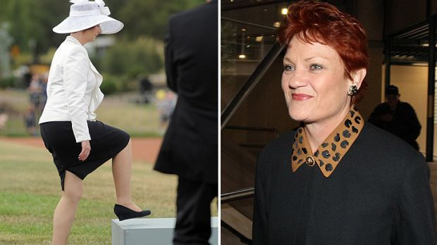 Everyone's a critic ... Pauline Hanson has taken aim at Julia Gillard's fashion sense.