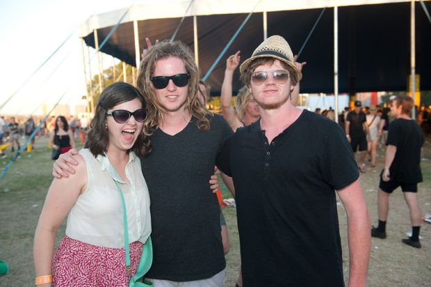 Punters at the Big Day Out.