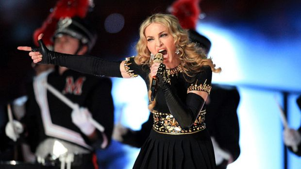 Putting on a spectacle: Madonna at the Super Bowl.