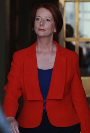 Prime Minister Julia Gillard: perfectly able to take care of herself.