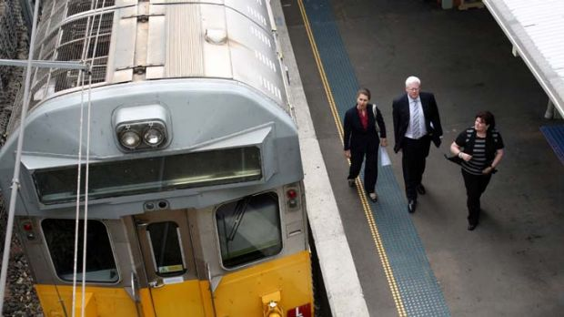 NSW minister for transport Gladys Berejiklian will announce a trial of quiet carriages on trains travelling between ...