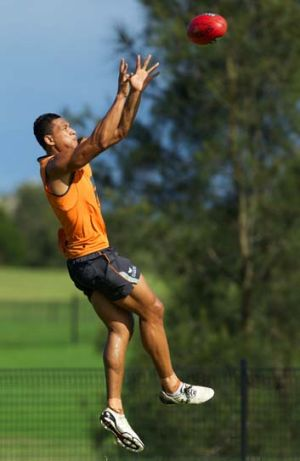Israel Folau at training.
