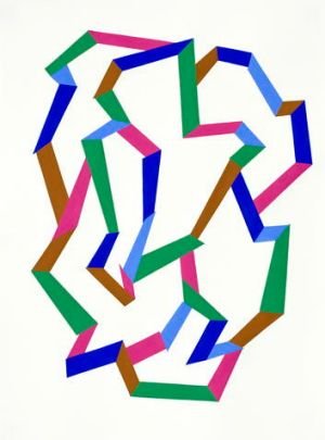 A geometric abstraction by Willma Tabacco on show at Langford 120.