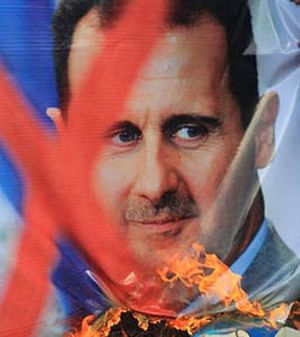 Diplomatic talks... it's hoped a Russian envoy to Syria will pursuade Syria's president Bashar al-Assad to quit.