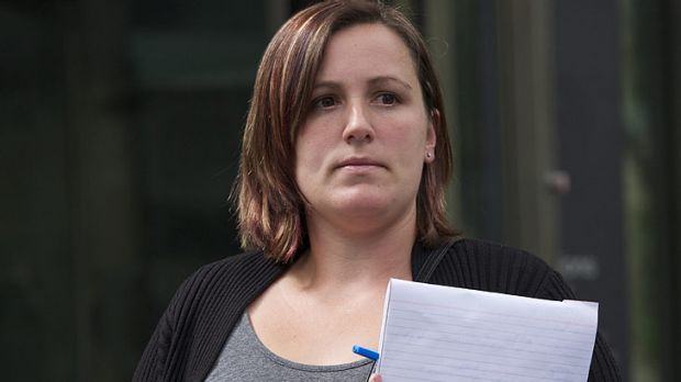 'Investigated by dinosaurs' ... Former policewoman Natalie Passalick leaves court.