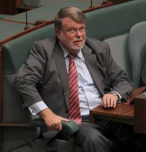 Labor MP Harry Jenkins during Question Time.