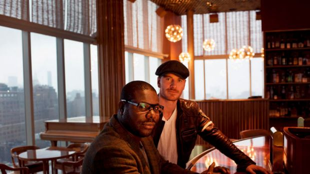 Director Steve McQueen (left) with actor Michael Fassbender.