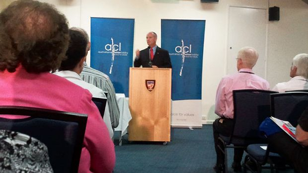 LNP leader Campbell Newman addresses the Australian Christian Lobby.