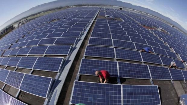 """Solar panels in Geneva ... """"The  alternatives to fossil fuels are few and costly."""""""