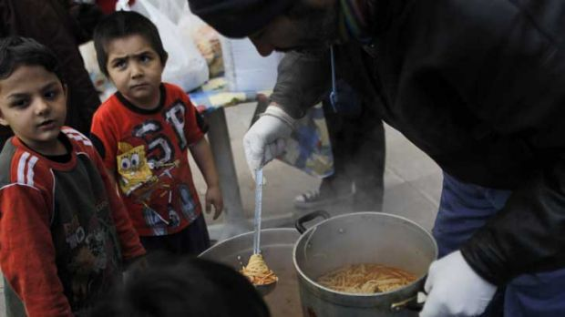 The new poor: thousands of Greeks are relying on charity for food handouts and shelter as job losses, wage cuts and ...
