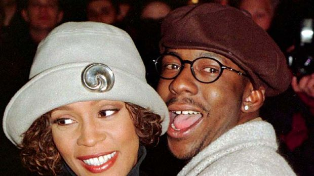 Happier times ... Whitney Houston and Bobby Brown.