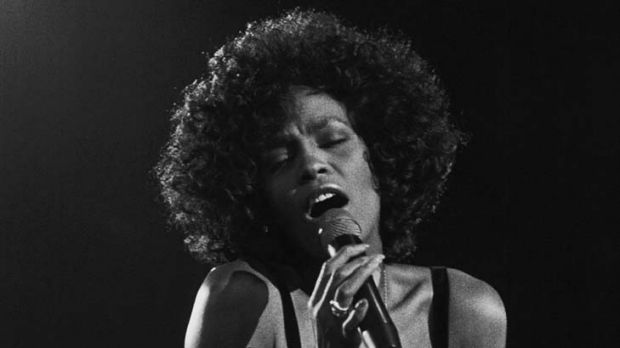 Star attraction ... Whitney Houston, pictured here singing in 1988, shot to fame in the Eighties.