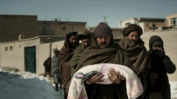 Too weak to fight cold … a three-month-old baby is buried in Kabul.