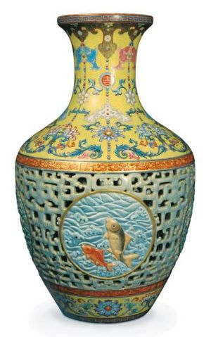 The 18th-century Qing dynasty vase.