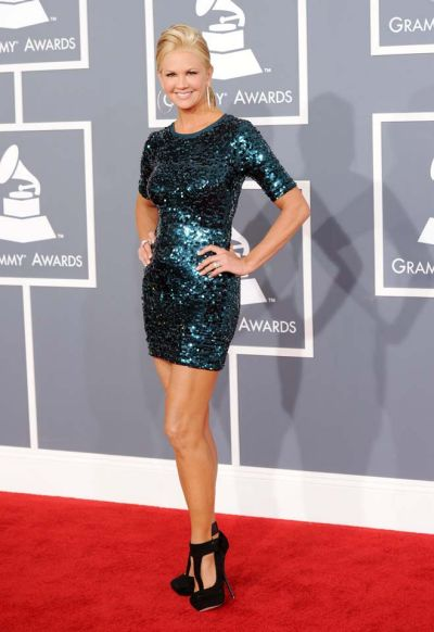Nancy O'Dell arrives at the Grammy Awards.