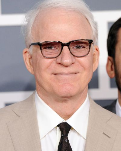 Steve Martin arrives at the Grammy Awards.