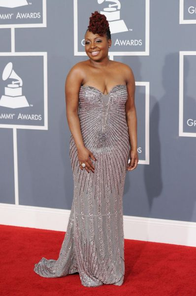 Ledisi arrives at the Grammy Awards.