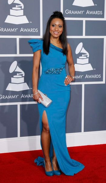 Vaja arrives at the Grammy Awards.