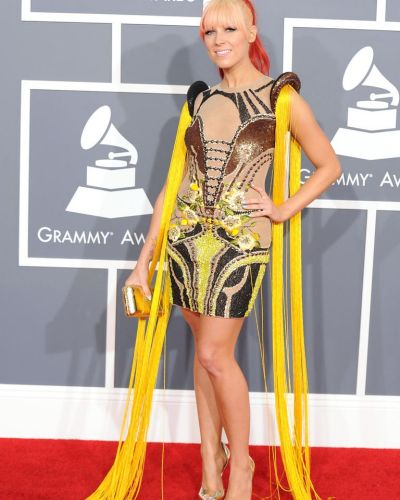 Space age ...  Bonnie Mckee arrives at the Grammy Awards.