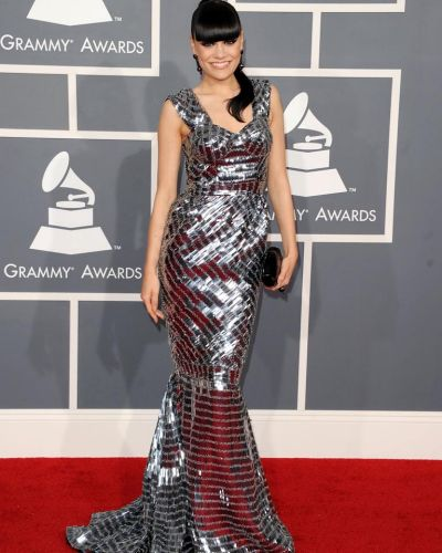 Shine factor ... Jessie J arrives at the Grammy Awards.