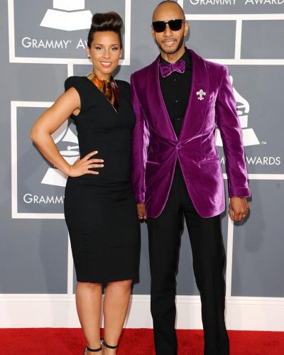 Velvet tones ... Alicia Keys and Swizz Beatz.
