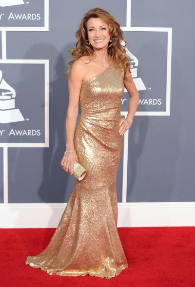 Jane Seymour arrives at the Grammy Awards.