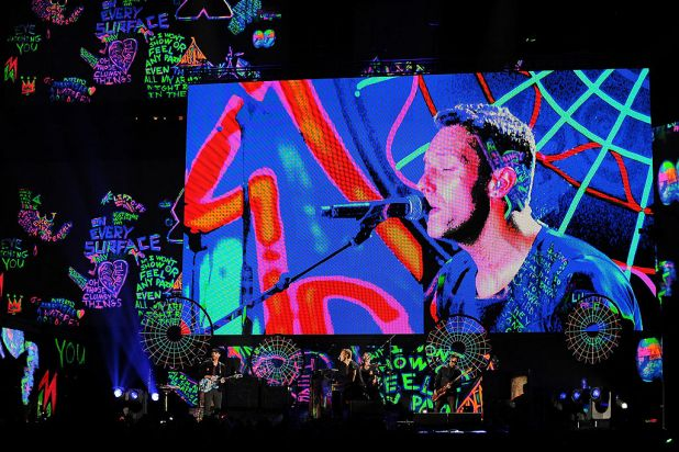 A colourful performance from Coldplay.