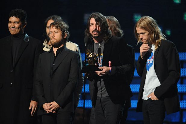 The Foo Fighters accept their award for Best Rock Performance for <i>Walk</i>.