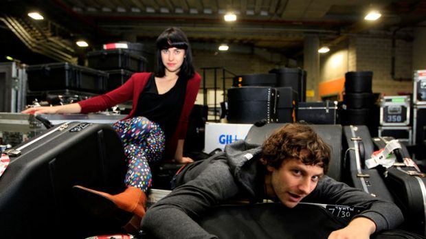 Goyte's song <i>Somebody That I Used To Know</i>, featuring Kimbra (rear), has now topped the charts in nine territories ...