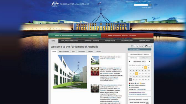 What the new aph.gov.au website will look like.