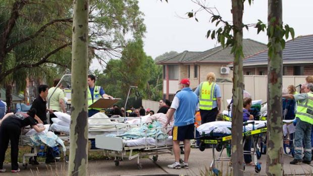 Outside the Quakers Hill nursing home on the morning of November 18.