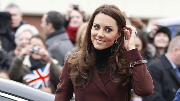 Without her royal husband ... Catherine, Duchess of Cambridge.