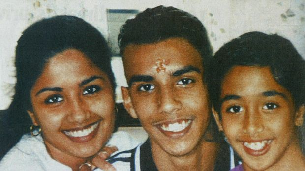 The murdered Singh siblings, from left: Neelma, 24, Kunal, 18, and Sidhi, 12.
