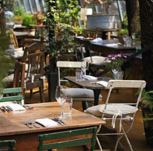 Keep it simple … casual, rustic charm sets the scene at the Petersham Nurseries Cafe.