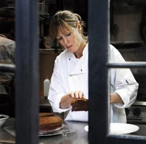 Star performer … Skye Gyngell in the kitchen at Petersham Nurseries Cafe.