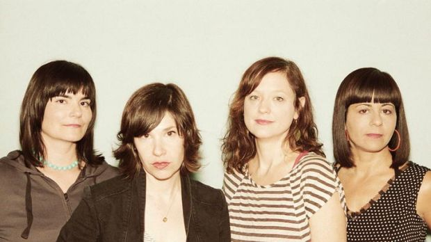 Grrrl power ... Carrie Brownstein (second from left) is unleashed in Wild Flag.