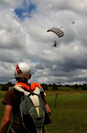 Taking a leap … skydivers at the Wilton site, once proposed as a contender for Sydney's second airport with ...