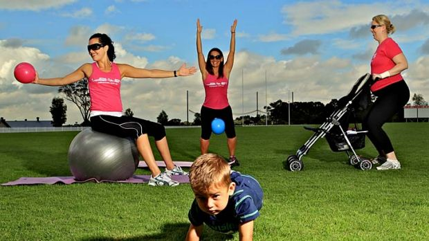 I got sunshine … Lyndal Powell, with son Bailey, Julie Cunningham and Laura Grant in Rouse Hill. A study found low ...
