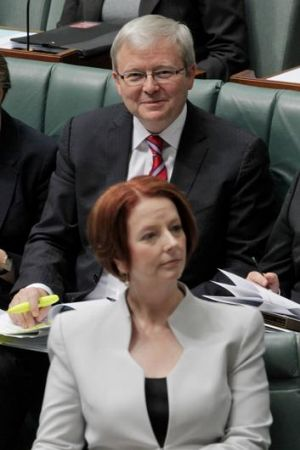 The Coalition made hay over continuing leadership tensions between Prime Minister Julia Gillard and Foreign Minister ...