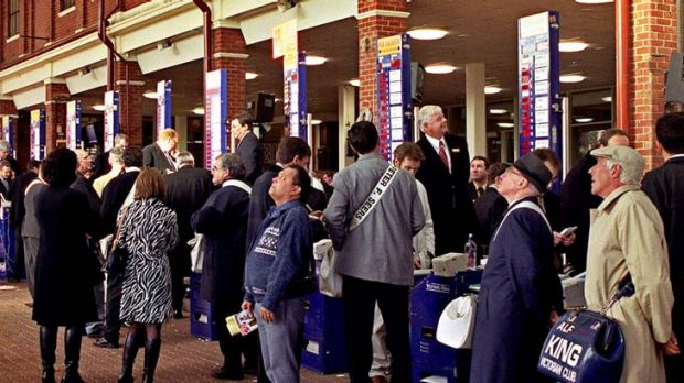 Days of future past … the on-course betting ring is almost a relic, as cyberspace gambling has taken over for the ...