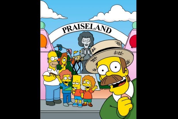 The Simpsons go to Praiseland
