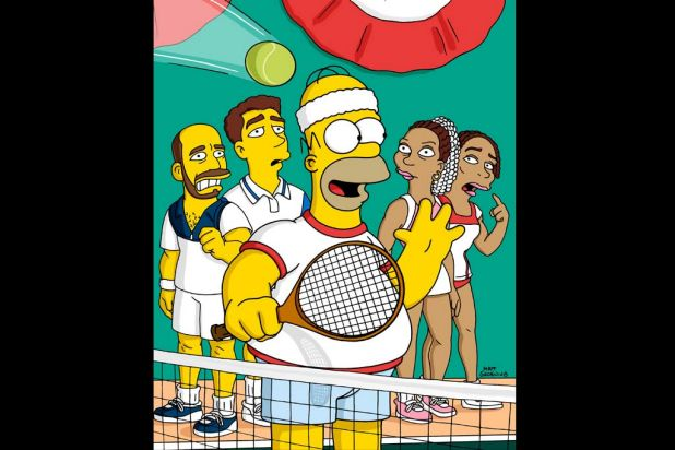 Tennis with the Simpsons