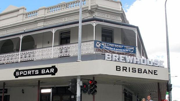 Owners of the Brisbane Brewhouse, Grant and Michelle Clark outside the venue.