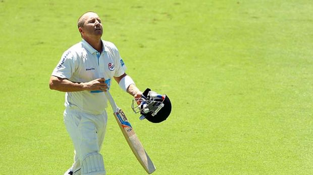 Playing for the Blues, Brad Haddin was out for a duck against Western Australia yesterday.