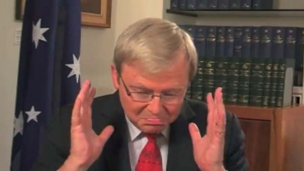 """""""This is becoming hopeless"""" ... Kevin Rudd."""