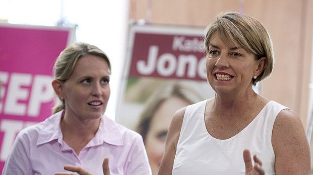 Anna Bligh opens her state election campaign in Ashgrove with local ALP member Kate Jones by her side.