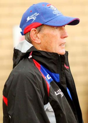 Better … Wayne Bennett watches his side in Muswellbrook.